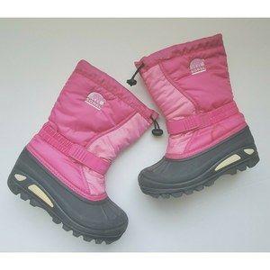Sorel Kids Girl Snow Duck Boots Pink Winter 4